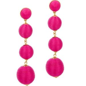 New hot pink Baublebar Criselda ball drop earrings